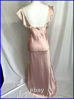 Vintage Christian Dior lingerie negligee Lace nightgown pink polka dot