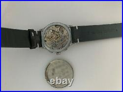 Vintage Chronograph Alpar Semos Silver Dial Large 35mm Case Venus 170 Serviced
