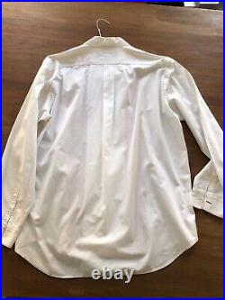 Vintage Comme Des Garcons CDG Button Down Shirt embroidered tuxedo pleated red L