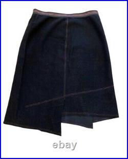 Vintage Cop Copine Asymmetrical Black Wool Skirt