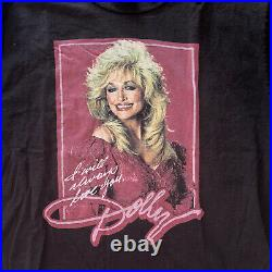 Vintage Dolly Parton Tee Flying Start Tag Grail Heat Single Stitch Large Retro