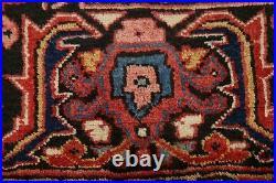 Vintage Geometric Vegetable Dye Heriz Serapi Hand-knotted Large Area Rug 10'x13