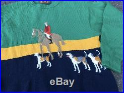 Vintage Gucci M. J. Knoud Equestrian Knit Sweater Designed By Paolo Gucci