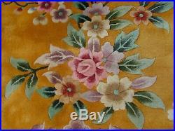 Vintage Hand Made ArtDeco Chinese Oriental Gold Wool Large Carpet 495x425cm