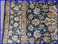 Vintage Hand Made Traditional Oriental Wool Blue Large Carpet 323x225cm