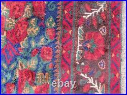 Vintage Hand Made Traditional Rug Oriental Rug Wool Blue Large Carpet 293x192cm