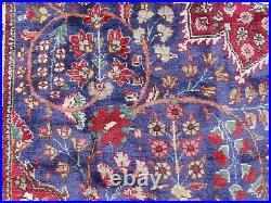 Vintage Hand Made Traditional Rug Oriental Wool Blue Large Carpet 364x239cm