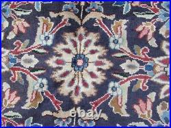 Vintage Hand Made Traditional Rug Oriental Wool Blue Large Carpet 404x295cm