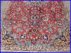Vintage Hand Made Traditional Rug Oriental Wool Red Large Rug Carpet 281x165cm