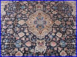 Vintage Hand Made Traditional Rugs Oriental Wool Blue Large Carpet 378x295cm