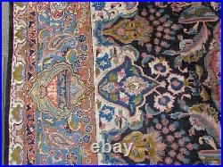 Vintage Hand Made Traditional Rugs Oriental Wool Blue Large Carpet 397x297cm