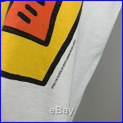 Vintage Keith Haring Rare T Shirt LARGE ORIGINAL 1993 Guggenheim NOT A REPRINT
