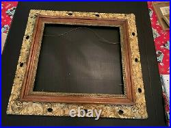 Vintage Large Gesso on Wood Picture Frame