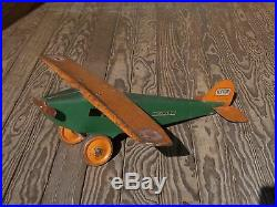 Vintage Large Steelcraft Army Scout Plane Antique Toys. Airplanes Great Decor