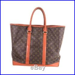 Vintage Louis Vuitton GM Sac Weekend Monogram Large Tote 184 Hand Bag. NFV5346