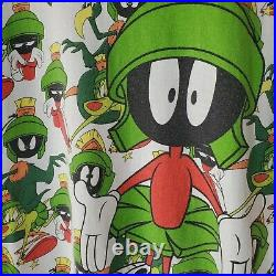 Vintage Marvin the Martian All Over Print T-shirt Space Jam Looney Tunes (Large)