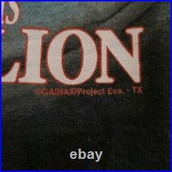 Vintage Nerv Anime Neon Genesis Evangelion Shirt Black Delta Size L Gainax Rare