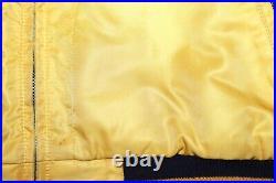 Vintage Polo Sport Ralph Lauren Varsity P Wing Reversible Jacket Navy Sz L Rare