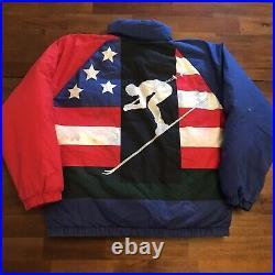 Vintage Polo Suicide Ski Puffer Jacket 1992 Original 92 Stadium Goose Down Large