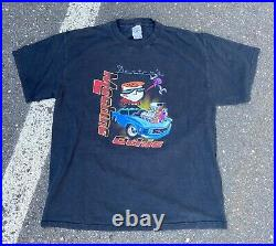 Vintage RARE Y2K Dexters Laboratory Machine Ethic Cartoon Network T-Shirt Large