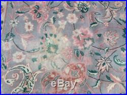 Vintage Traditional Hand Made Oriental Wool Grey Pink Large Carpet 370x275cm