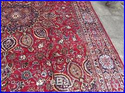 Vintage Traditional Hand Made Rug Oriental Red Blue Wool Large Carpet 390x297cm