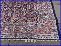 Vintage Worn Hand Made Traditional Oriental Wool Blue Large Carpet 368x263cm
