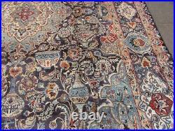 Vintage Worn Hand Made Traditional Oriental Wool Blue Large Carpet 398x292cm