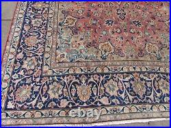 Vintage Worn Hand Made Traditional Rug Oriental Wool Red Large Carpet 376x249cm
