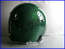 Vintage style motorcycle helmet with metal flake