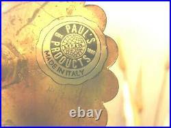 Vintage wheat Wall Sconce Gold Florentine Italian