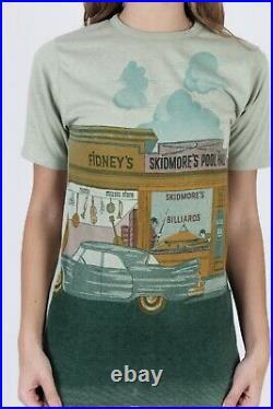Vtg 70s Sears Kings Road Mens Store All Over Photo Print Pool Hall Tee T Shirt L