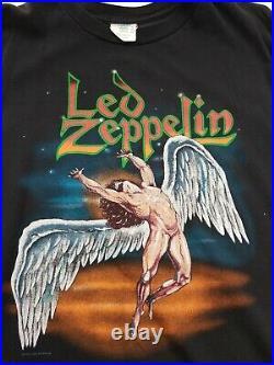 Vtg 90s Led Zeppelin 1990 T Shirt Size XL x large Winterland Single Stitch swan