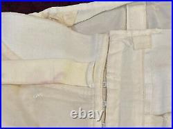 White Lace Up Corset Girdle Back Brace 1940s Vintage Large XL