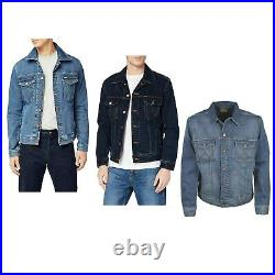 Wrangler Denim Jacket Large Mens Western Style Button Up Long Sleeve Pocket Coat